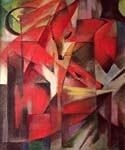The Fox by  Franz Marc (Painting ID: AB-0143-KA)