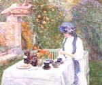 The French Tea Garden by  Frederick Childe Hassam (Painting ID: EI-0752-KA)