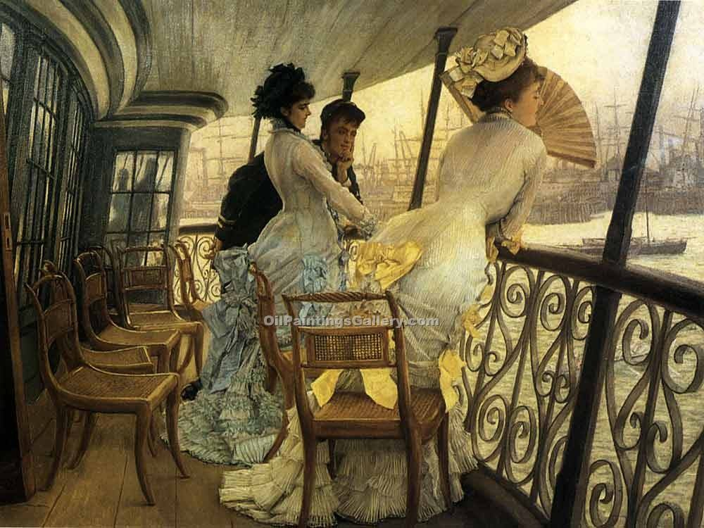 """The Gallery of H.M.S. Calcutta"" by  James Tissot"
