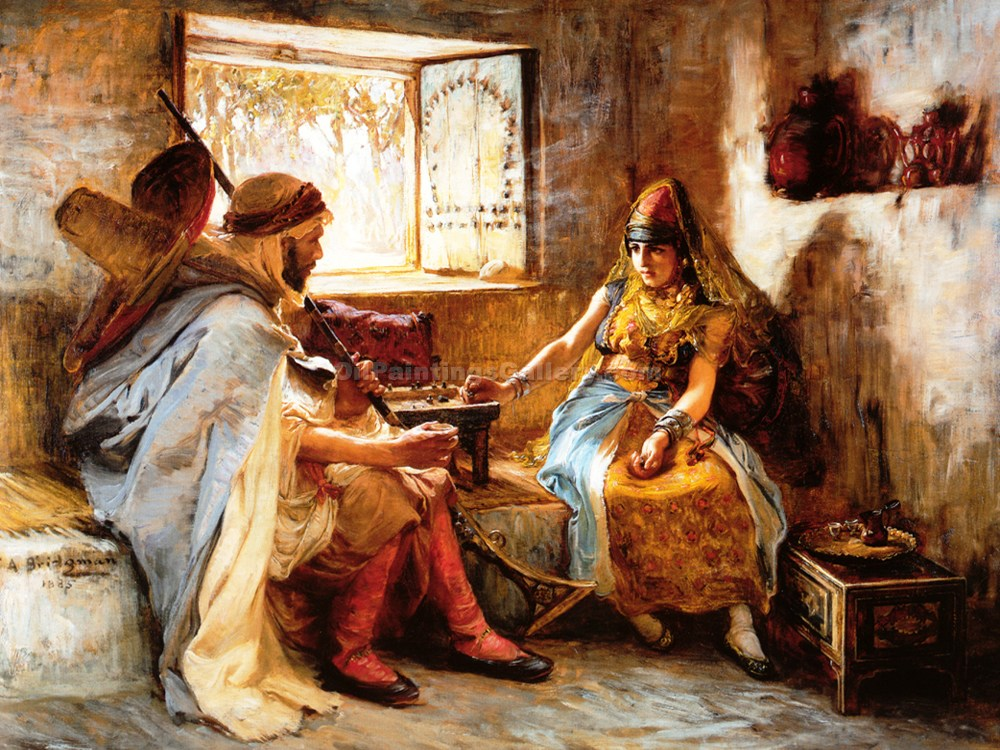 """The Game of Chance"" by  Frederick Arthur Bridgman"