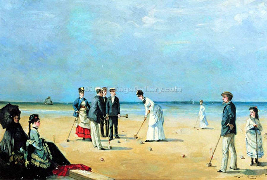 """The Game of Croquet"" by  Louise Abbema"
