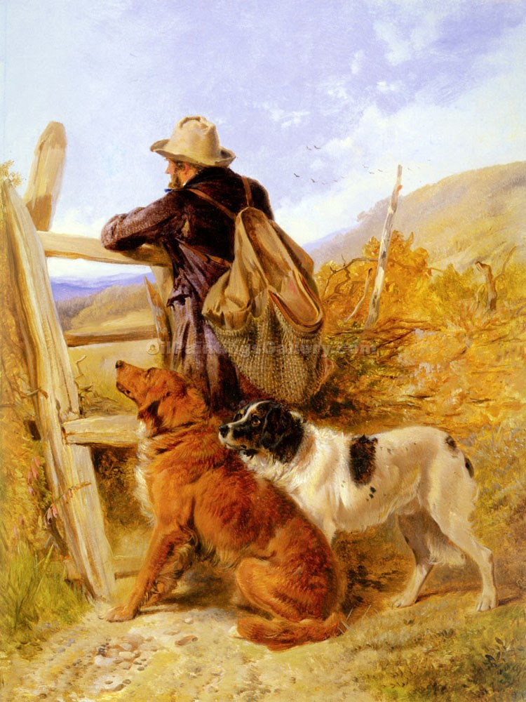 """The Gamekeeper"" by  Richard Ansdell"