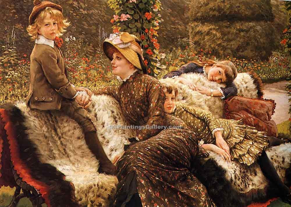 """The Garden Bench"" by  James Tissot"