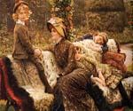 The Garden Bench by  James Tissot (Painting ID: CL-4286-KA)