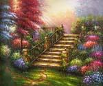 The Garden Stairs  (Painting ID: LA-3111-KA)