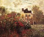 The Garden at Argenteuil by  Claude Monet (Painting ID: MO-1149-KA)