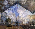 The Gare Saint Lazare by  Claude Monet (Painting ID: MO-1174-KA)