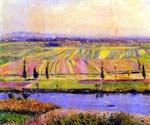 The Gennevilliers Plain Seen from Argenteuil by  Gustave Caillebotte (Painting ID: LA-5318-KA)