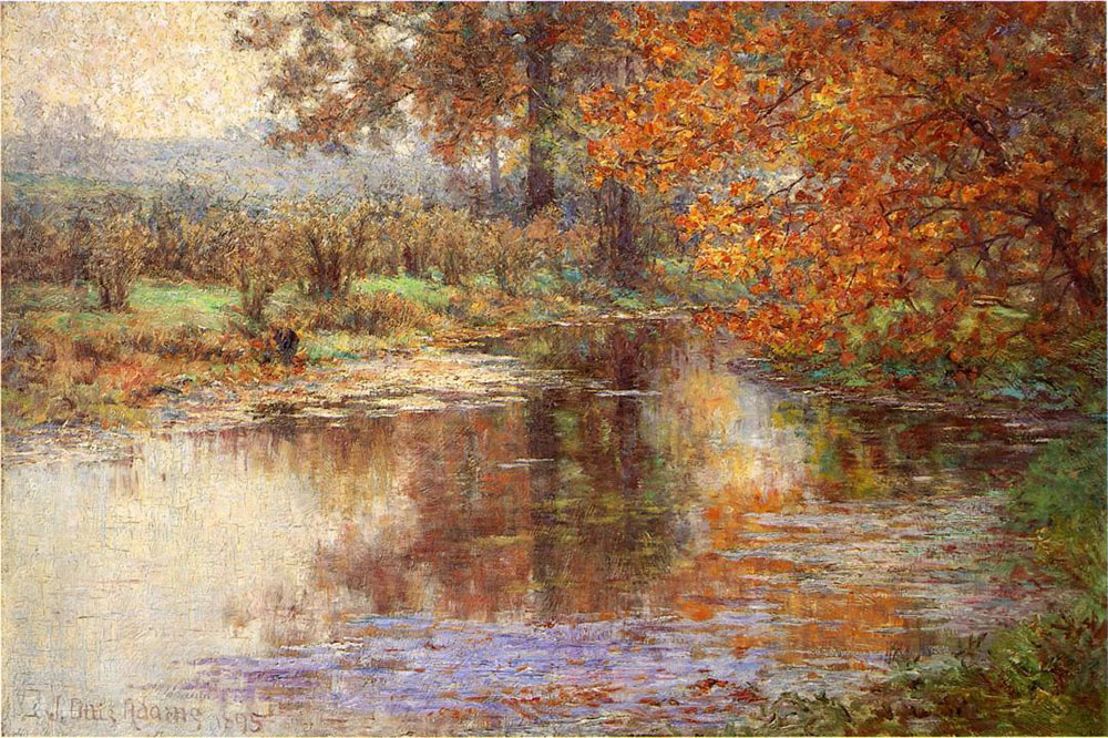 """The Glimmerglass of the Mississinewa"" by  John Ottis Adams"