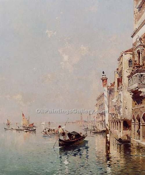 """The Grand Canal 36"" by  Franz Richard Unterberger"