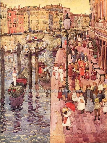 """The Grand Canal, Venice 12"" by  Maurice Brazil Prendergast"