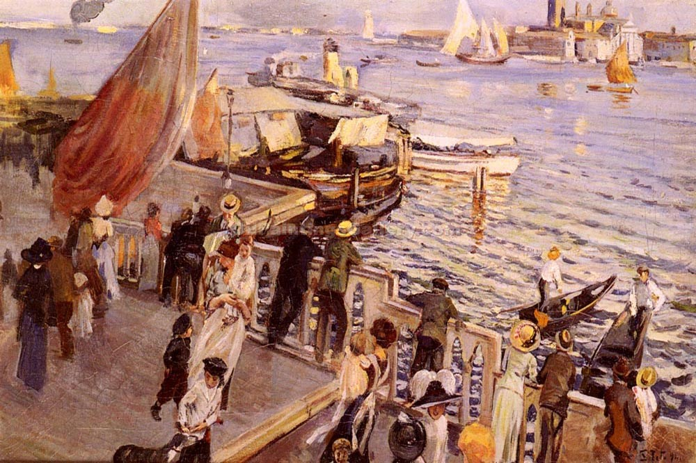 """The Grand Canal, Venice 45"" by  Ettore Tito"