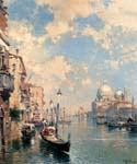 The Grand Canal Venice by  Franz Richard Unterberger (Painting ID: CI-1535-KA)