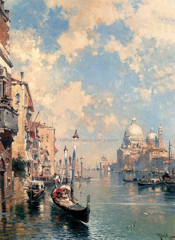 The Grand Canal Venice by Franz Richard Unterberger | Angel Paintings - Oil Paintings Gallery