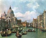 The Grand Canal and the Church of the Salute 21 by  Antonio Canaletto (Painting ID: CI-2021-KA)