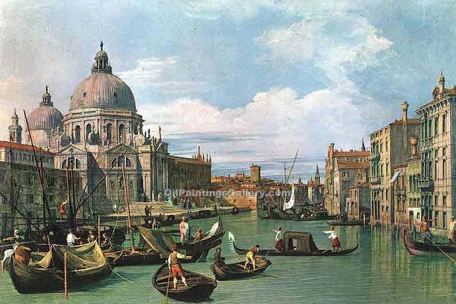 """The Grand Canal and the Church of the Salute 21"" by  Antonio Canaletto"