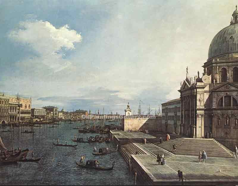 """The Grand Canal at the Salute Church"" by  Antonio Canaletto"