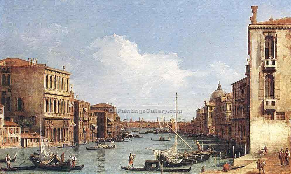 """The Grand Canal from Campo S. Vio"" by  Antonio Canaletto"