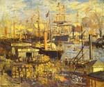 The Grand Dock at Le Havre by  Claude Monet (Painting ID: MO-0879-KA)