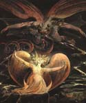 The Great Red Dragon and the Woman by  William Blake (Painting ID: AF-0482-KA)
