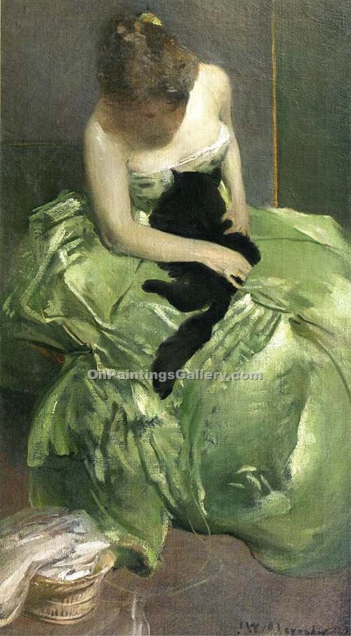 """The Green Dress"" by  John White Alexander"