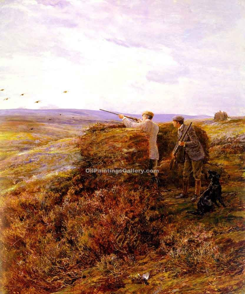 """The Grouse Shoot"" by  Heywood Hardy"