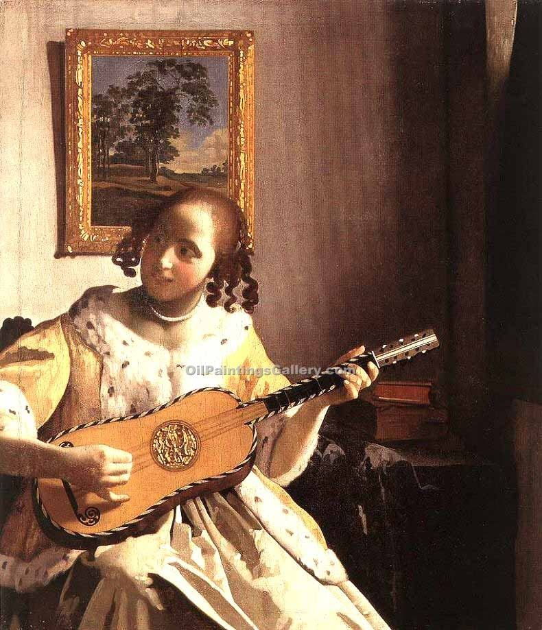 """The Guitar Player"" by  Jan Vermeer"