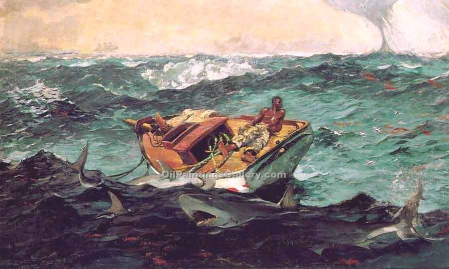 The Gulf StreamWinslow Homer | Impressionism Paintings - Oil Paintings Gallery
