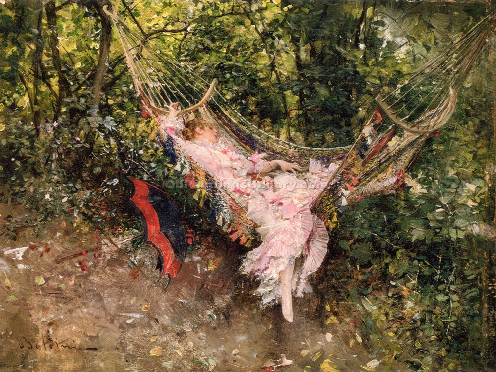 """The Hammock"" by  Giovanni Boldini"