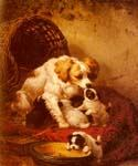 The Happy Family by  Henriette Ronner Knip (Painting ID: AN-0381-KA)