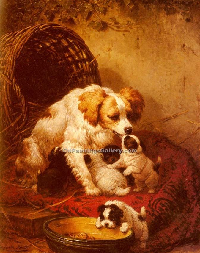 """The Happy Family"" by  Henriette Ronner Knip"