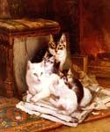 The Happy Litter by  Henriette Ronner Knip (Painting ID: AN-1094-KA)