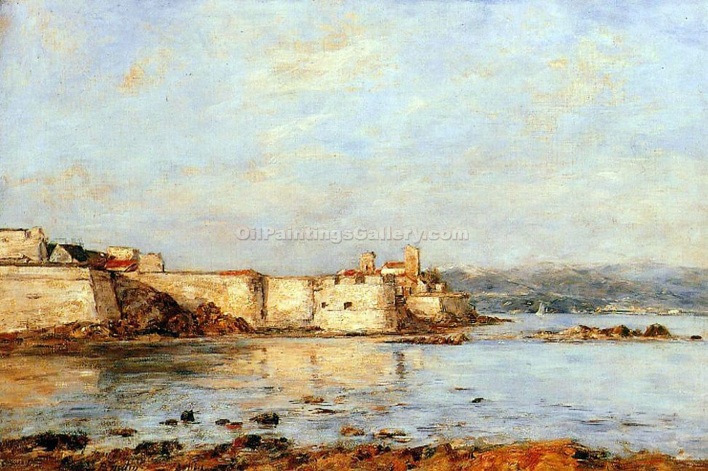 """The Harbor of Antibes"" by  Eugene Louis Boudin"