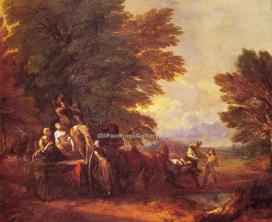 """The Harvest Wagon"" by  Thomas Gainsborough"