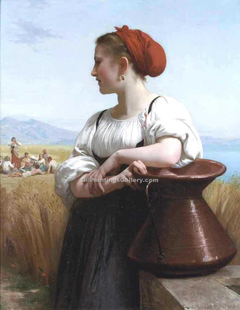 """The Harvester"" by  Adolphe Bouguereau"