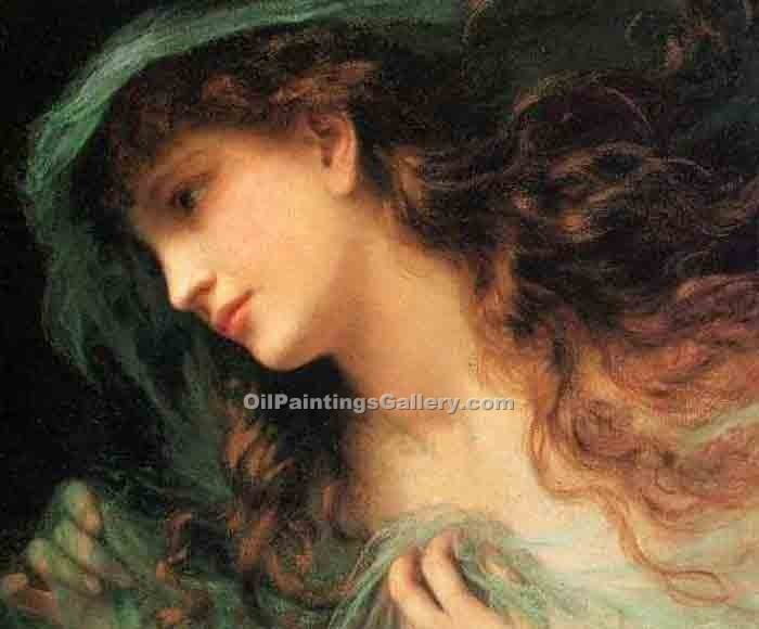"""The Head of a Nymph"" by  Sophie Gengembre Anderson"