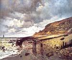 The Headland of the Heve at Low Tide by  Claude Monet (Painting ID: MO-0906-KA)