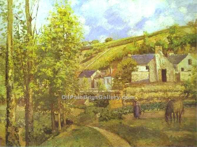 """The Hermitage at Pontoise 30"" by  Camille Pissarro"