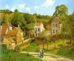 The Hermitage at Pontoise 32 by  Camille Pissarro (Painting ID: LA-0932-KA)