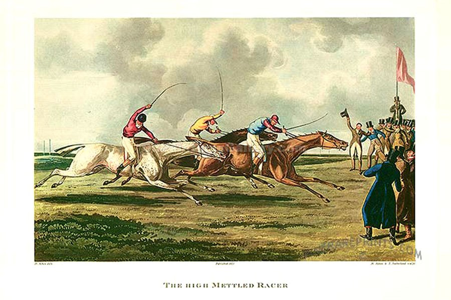 The High Mettled Racer by Henry Alken Thomas | Painted Artwork - Oil Paintings Gallery
