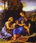 The Holy Family 28 by  Sanzio Raphael (Painting ID: DA-3828-KA)