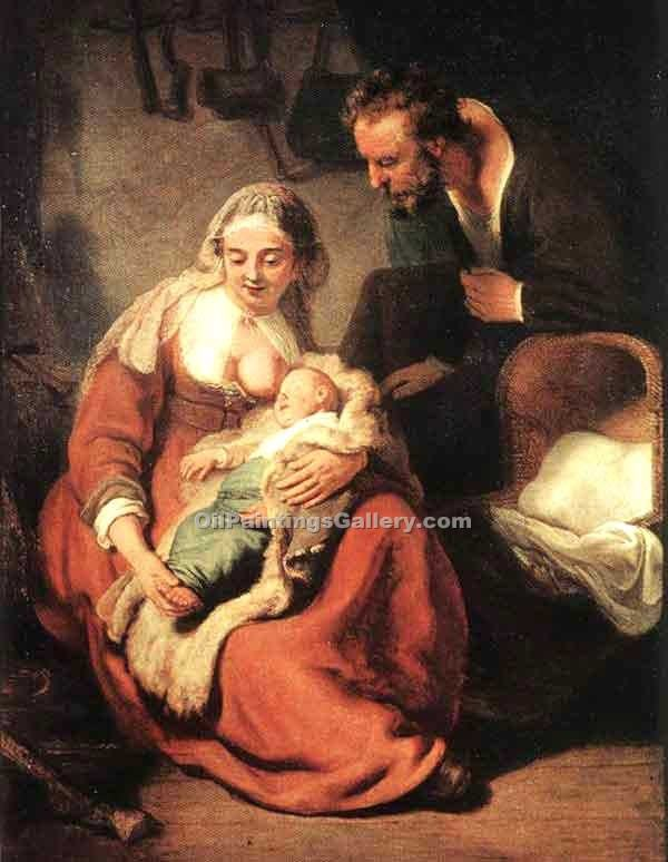"""The Holy Family 97"" by  Harmenszoonvan Van Rijn Rembrandt"