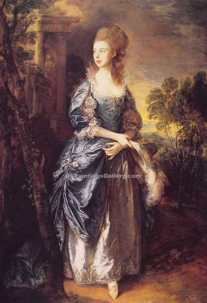 """The Hon. Frances Duncombe"" by  Thomas Gainsborough"