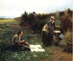 The Honeymoon Breakfast by  Daniel Ridgway Knight (Painting ID: EI-0931-KA)