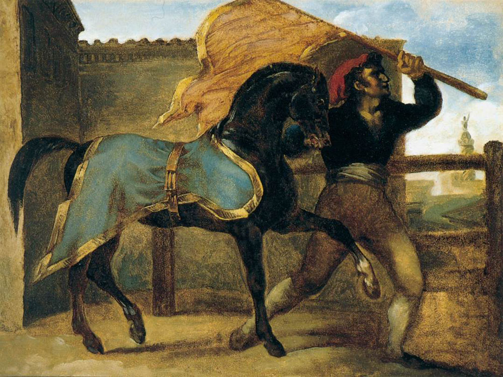"""The Horse Race"" by  Theodore Gericault"