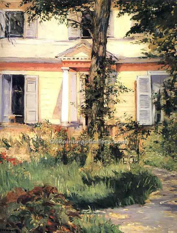 """The House at Rueil"" by  Edouard Manet"