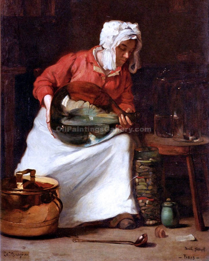 The Housewife by Claude JosephBail | Art Paintings For Sale - Oil Paintings Gallery