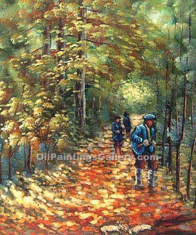 """The Hunt 92"" by  Claude Monet"