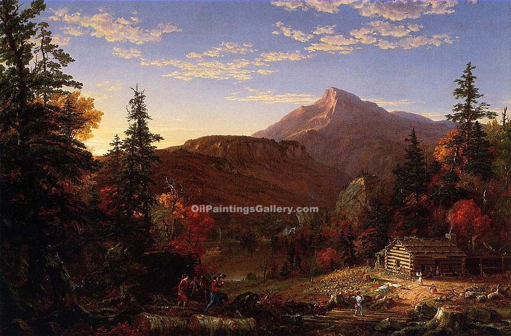 """The Hunters Return 50"" by  Thomas Cole"