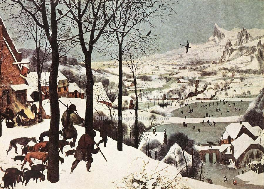 """The Hunters in the Snow"" by  Pieter the Elder Bruegel"